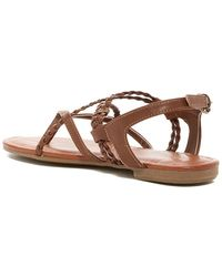 be38d54c5afcea MIA - Womens Dannie Split Toe Casual Strappy Sandals - Lyst