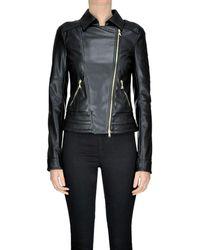Patrizia Pepe - Women's Mcglcsg04043i Black Polyurethane Outerwear Jacket - Lyst