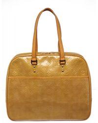 Louis Vuitton - Pre Owned- Yellow Vernis Leather Monogram Sutton Shoulder Bag - Lyst