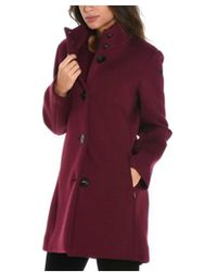 Rrd - Women's Burgundy/purple Viscose Coat - Lyst