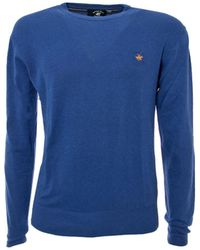 Beverly Hills Polo Club - Men's Blue Wool Sweater - Lyst