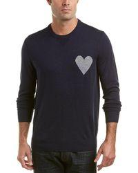 Michael Bastian - Grey Label Heart On Wool-blend Crewneck Jumper - Lyst
