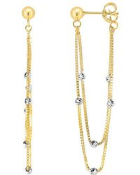 Jewelry Affairs - 14k Yellow And White Gold Multi Stranded Fancy Chain Front And Back Style Drop Earrings - Lyst