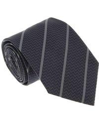 Missoni - U4545 Navy/gray Repp 100% Silk Tie - Lyst
