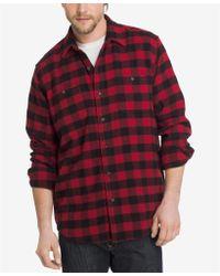 G.H.BASS - Mens Rock Ridge Plaid Flannel Button-down Shirt - Lyst