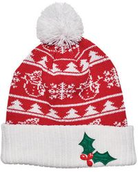 San Diego Hat Company - Women's Snowman & Applique Christmas Beanie Knh3448 - Lyst