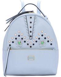 Catherine Malandrino - Womens Talulah Faux Leather Logo Backpack - Lyst