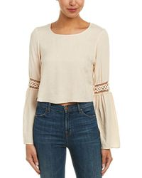 Blush Noir - Bell-sleeve Top - Lyst