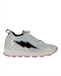 Leo - Women's Silver Glitter Sneakers - Lyst