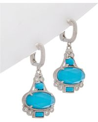 Judith Ripka - Aspen Silver Drop Earrings - Lyst