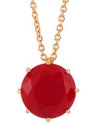 Les Nereides - La Diamantine Vermilion Red One Round Stone Long Necklace - Lyst