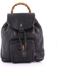 Gucci - Pre Owned Vintage Bamboo Backpack Leather Mini - Lyst