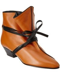 Céline - Leather Bootie - Lyst