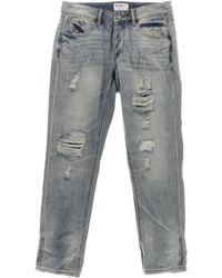William Rast - Womens Distressed Light Wash Boyfriend Jeans - Lyst
