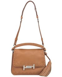 Tod's | Double T Leather Shoulder Bag | Lyst