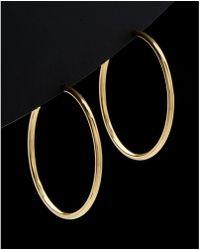 Argento Vivo - 18k Over Silver Hoop Earrings - Lyst