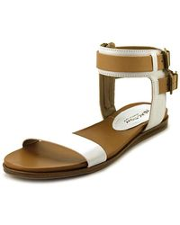 Kenneth Cole Reaction - Open Net Leather Sandals - Lyst