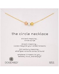 Dogeared - Circle Bright Necklace - Lyst