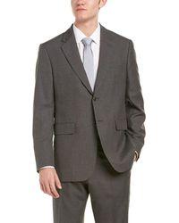 Façonnable - Wool-blend Suit W/ Flat Front Pant - Lyst