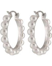 Splendid - Fancy Pearl Hoop Earrings - Lyst