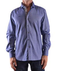 Etiqueta Negra - Men's Blue Cotton Shirt - Lyst