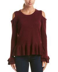 Quinn - Qi Cashmere Cold-shoulder Sweater - Lyst