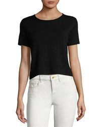 Saks Fifth Avenue - Crop T-shirt - Lyst