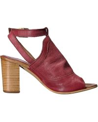 Miz Mooz - Womens Shiloh Leather Peep Toe Casual T-strap Sandals - Lyst