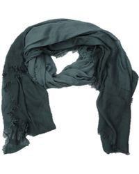 La Fiorentina - Women's Italian Ombre Modal Scarf With Frayed Edges - Lyst
