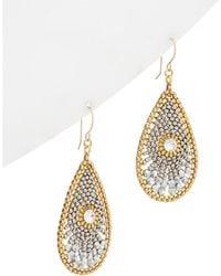 Miguel Ases - 18k Plated & 14k Filled Crystal Drop Earrings - Lyst