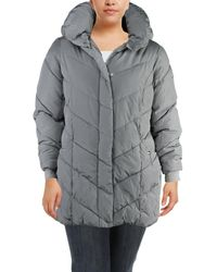 Steve Madden - Womens Plus Winter Quilted Puffer Coat - Lyst
