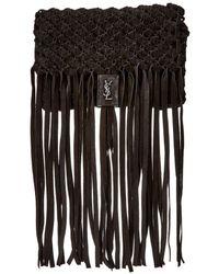 Saint Laurent - Fringed Leather Clutch - Lyst