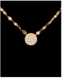 Argento Vivo - 18k Over Silver Cz Bling Chain Disc Necklace - Lyst
