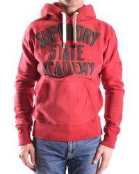 Superdry | Men's Red Cotton Sweatshirt | Lyst