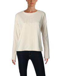 Lauren by Ralph Lauren - Womens French Terry Long Sleeves Sweatshirt - Lyst