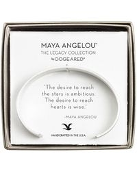 Dogeared - Maya Angelou Silver Cuff - Lyst