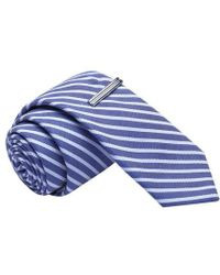 Skinny Tie Madness - Not Your Typical Junk Striped Skinny Tie With A Tie Clip - Lyst