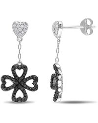 Catherine Malandrino - Heart Clover Drop Earrings - Lyst