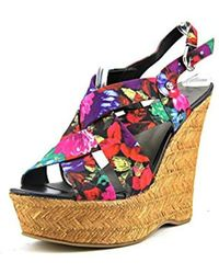 G by Guess - Women's Havana 2 Weaved Wedge Heels - Lyst