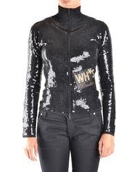 Who*s Who - Women's Black Viscose Sweatshirt - Lyst