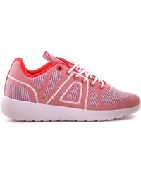 ASFVLT Sneakers - Women's White/red Fabric Sneakers - Lyst