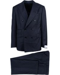 Pal Zileri - Black Striped Double Breasted Suit - Lyst