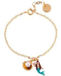 Les Nereides - I Am A Mermaid Little Mermaid And Shell Bracelet - Lyst