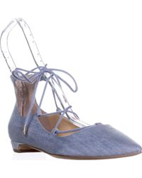 Ivanka Trump - Tropica Lace Up Pointed Toe Ballet Flats, Blue Multi - Lyst