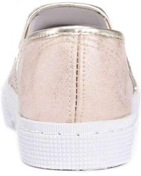 Muk Luks - Womens 16672 Fabric Low Top Slip On Fashion Sneakers - Lyst