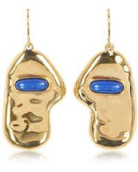 Aurelie Bidermann - Women's Gold Steel Earrings - Lyst