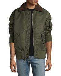 Guy Laroche - Oversized Spread Collar Bomber Jacket - Lyst