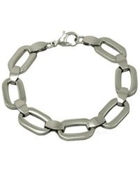 Amanda Rose Collection - Ladies Fancy Link Stainless Steel Bracelet 8 Inch - Lyst
