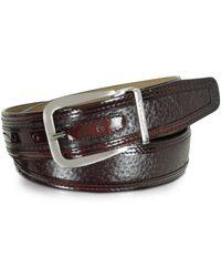 Moreschi - Men's Burgundy Leather Belt - Lyst