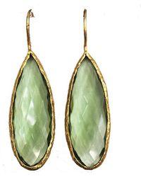 Blue Candy Jewelry - Fruit Slice Green Quartz Earrings - Lyst